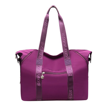 Women Nylon Waterproof Large Capacity Tote Bag Handbag