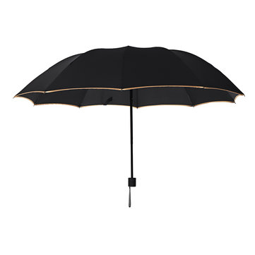 Outdoor 2-3 People Portable 3 Folding Umbrella 10 Ribs Waterproof Windproof Anti-UV Sunshade
