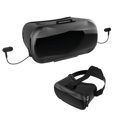 VR V5-2 Virtual Reality 3D Glasses Headset with Headphone Stereo/Mic for Mobile Phone