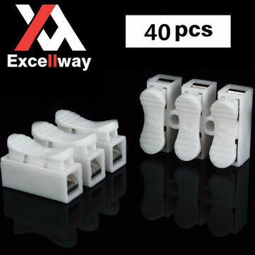 Buy Excellway® CH3 Quick Wire Connector Terminal Block Spring Connector LED Strip Light Wire Connector for $5.45 in Banggood store