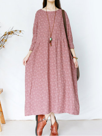 Vintage Women Printed Maxi Dress