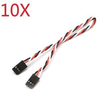 10X 22AWG 60 Core 20cm Male to Male Futaba Plug Servo Extension Wire Cable Twisted Cable