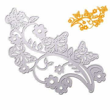 Butterflies Flower Vine Pattern Scrapbooking DIY Album Card Paper Art Craft Maker Metal Cutting Dies