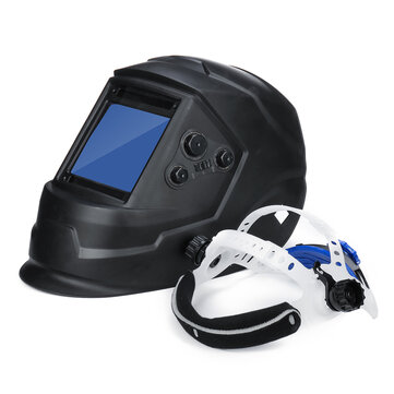 Solar Energy Automatic Dimming Welding Mask Auto Darkening Welding Helmet Big View Area 4 Sensors External Adjustment Arc Tig Mig DIN5-DIN13