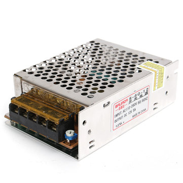 AC 220V To DC 12V 5A 60W Power Supply Lighting Transformer Adapter Driver For Strip Light Lamp