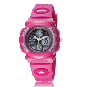 OHSEN AD1502 Women Girls Fashion LED Sport Watch