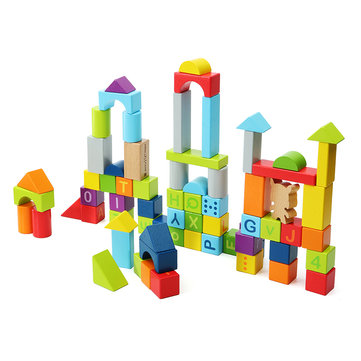 Xiaomi Mitu Hape 70PCS Wooden Puzzle Building Blocks 26 Letters 10 Numbers Kids Educational Gift Toy