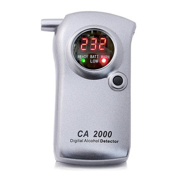 Digital LED Display Alcohol Tester Detector Test Machine Breathalyser With Box