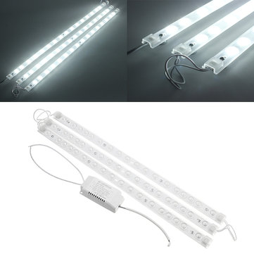 3PCS SMD2835 White LED Rigid Module Strip Light Indoor Lighting Lamp With Power Supply DC78-130V