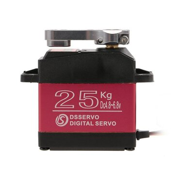 DSSERVO DS3225 25 KG 180 Grados Metal Gear High Torque Impermeable Digital Servo Para Robot de Avión RC