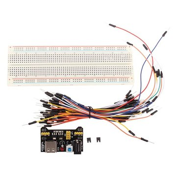 3pcs Geekcreit® MB-102 MB102 Solderless Breadboard + Power Supply + Jumper Cable Dupont Wire Kits For Arduino