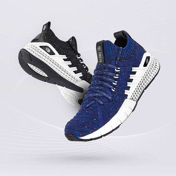 FREETIE 3D Printing Outdoor Sports Flyknit Sneakers Breathable Shock Absorbing Men Running Shoes From Xiaomi Youpin