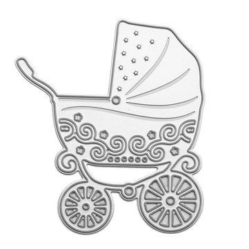 Baby Carriage Pattern Scrapbooking DIY Album Card Paper Art Craft Maker Metal Cutting Dies