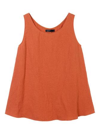 Las mujeres ocasionales de l-5XL estilo chino color puro camiseta sin mangas