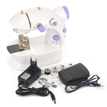 Portable Home Handwork Electric Mini Sewing Machine With Led Light Adorable Portable Mini Sewing Machine
