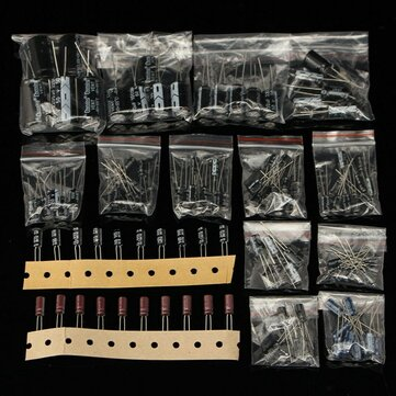 120pcs 15 Value 50V Electrolytic Capacitor 1UF-2200UF Assortment Kit
