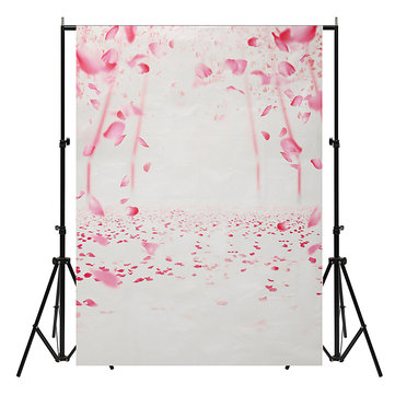 5x7FT Vinyl Pink Flower Photography Backdrop Photo Background Prop