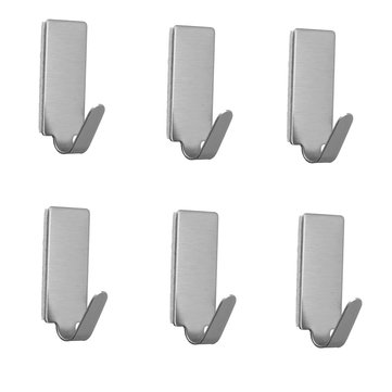 5Pcs Stainless Steel Self Adhesive Home Bathroom Hooks Towel Robe Coat Towel Keys Bags Wall Hanger