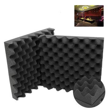 2Pcs Acoustic Studio Soundproof Foams Fire Retardant Egg Panels Sound Insulation Foam