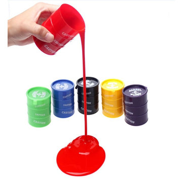 Tricky Oil Drums Barrel Container Sand Gelatin Fun Gift Novelty Toys For Kids Children Gift