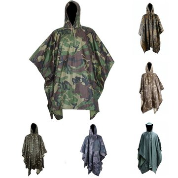 Multifunctional Camouflage Rain Coat Outdooors Travel Rain Coat Cycling Camouflage Poncho