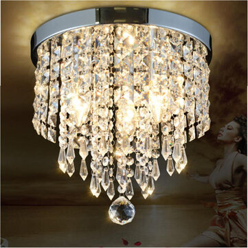 LED Pendant Ceiling Lamp Elegant Crystal Ball Light LED Chandelier Light Home Decor