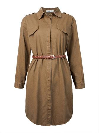 Mulheres casual única lapela sólida manga longa breasted casaco com cinto