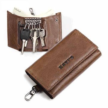 Men Key Chain Key Bag Coin Pocket Trifold Mini Wallet