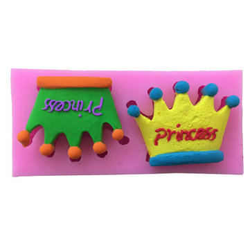 Lovely Princess Crowns Silicone Sugar Cake Baking Mold Fondant Chocolate Soap Mould