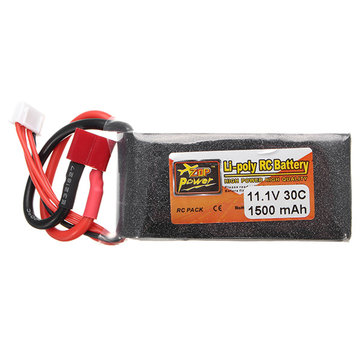 ZOP Power 11.1V 1500MAH 3S 30C Lipo Battery T Plug
