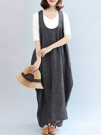 Women Sleeveless Strap Maxi Dress