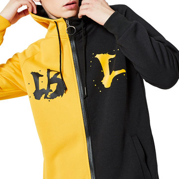 Men's Leisure Loose Two Colors Hoodies Sweatshirts