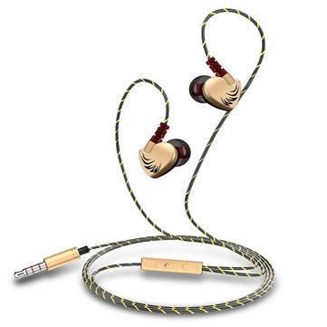Fanbiya D3 3.5mm Control con cable en la oreja Deportes Heavy Bass Auricular Suspensión Oreja Auriculares con micrófono
