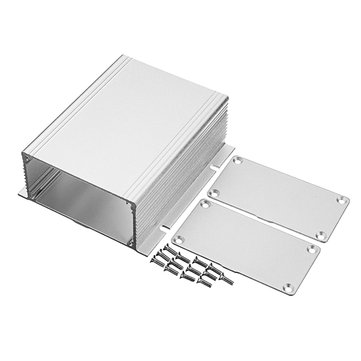 Heat Dissipating Extruded Aluminum Enclosure Box PCB Shell Box For Amplifier 100x88x39mm