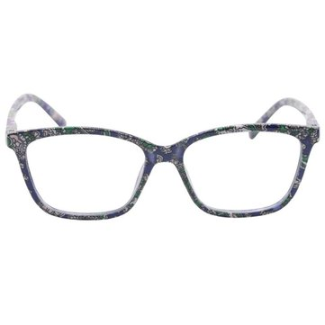 KCASA Camellia Color Cat Eye Pattern Fashion Reading Glasses Resin With Bag