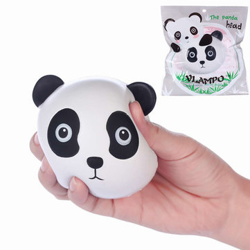 Vlampo Squishy Panda Head Face Slow Rising Original Packaging Collection Toy Gift Decor