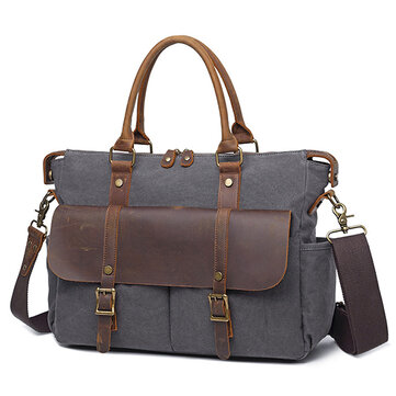 Men Outdoor Travel Handbag Vintage Crossbody Shoulder Bag