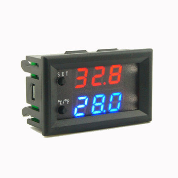 Mini Microcomputer Thermostat Regulator DC 12V 20A Digital Adjustable Thermometer -50-110