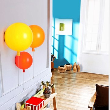 Novelty Modern Colorful Acrylic Shade Balloon Wall Light for Children Bedroom Decor
