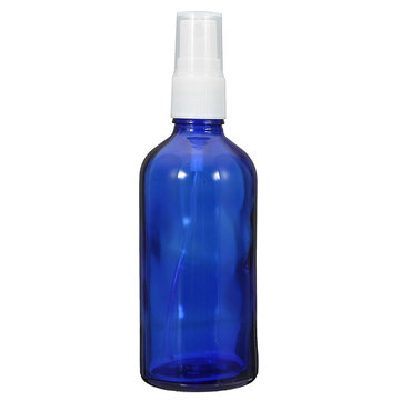 100ml Empty Blue Glass Spray Bottle Refilled Liquid Bottle Skin Care Fragrances Essential Oil