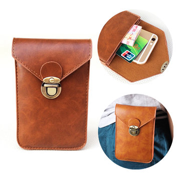 Multifunctional PU Leather Waist Belt Waist Buckle Bag Phone Case for Phone Under 6 inch
