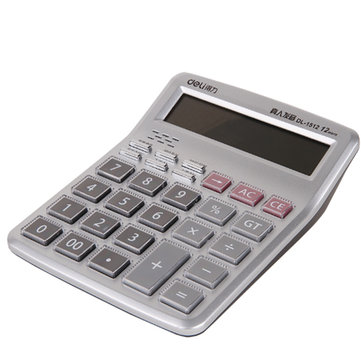 Deli 1512 Calculator Financial Office Supplies Computer 12 Big Key Crystal Button