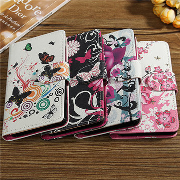 Flower Pattern Leather Wallet Case Cover For Xiaomi 4S MI4s