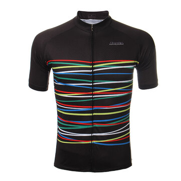 Mens Cycling Jersey MTB Bike Short Sleeve Outdoor Sports Clothing Quick Dry Breathable Wicking