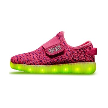 Kids USB LED Lichtgewicht Lichtgewicht Sneakers Light Up Shoes Kleurrijke Flash Shoes