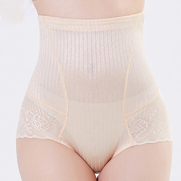 Lace Hip Molding Slimming Tummy Contol High Waist Shapewear Panties