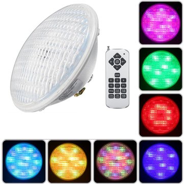 24W RGB Remote Control 72 LED Swimming Pool Light Waterproof Night Light Atmostphere Light