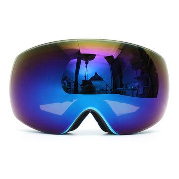 Winter Unisex Anti Fog Blue Dual Len Motor Bike Racing Outdooors Snowboard Ski Goggles