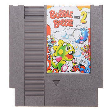 Bubble Bobble Part 2 72 Pin 8 Bit Game Card Cartridge for NES Nintendo