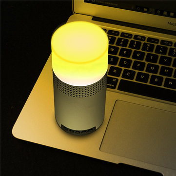 Multifunctional Colorful LED Lamp TF Card AUX-in Stereo Bluetooth Speaker With Mic